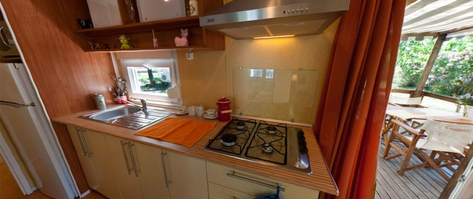 Mobile Home's Kitchen
