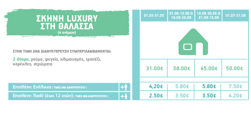 pricelist luxury tent 2019