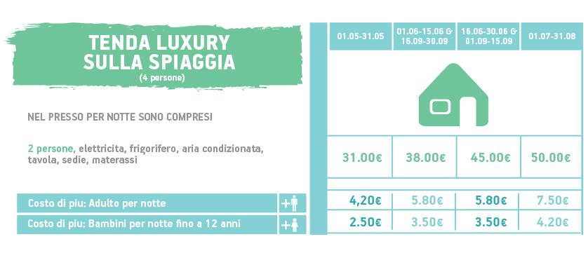 pricelist luxury tent 2019