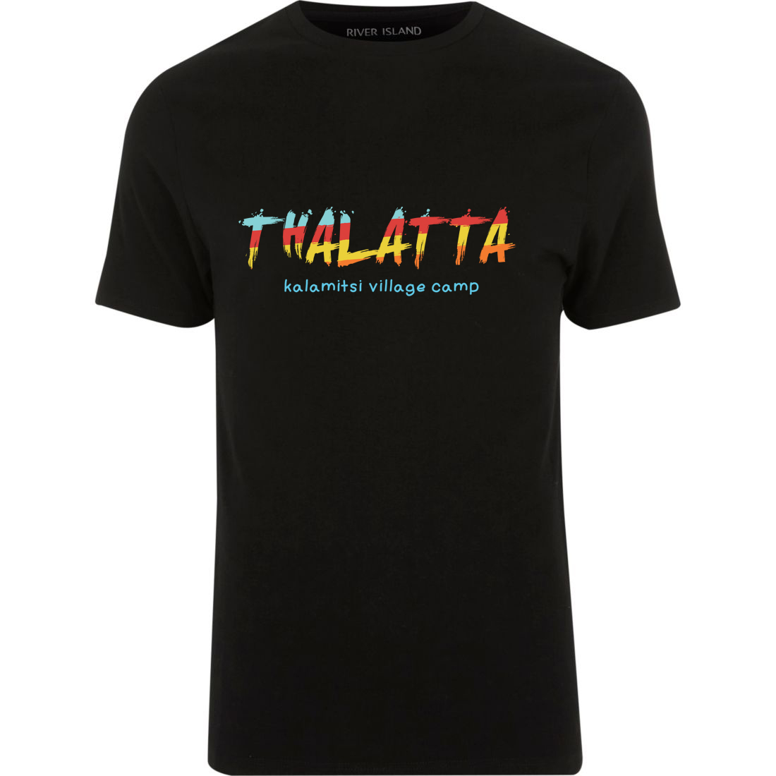 thalatta camp t-shirt (μαύρο)