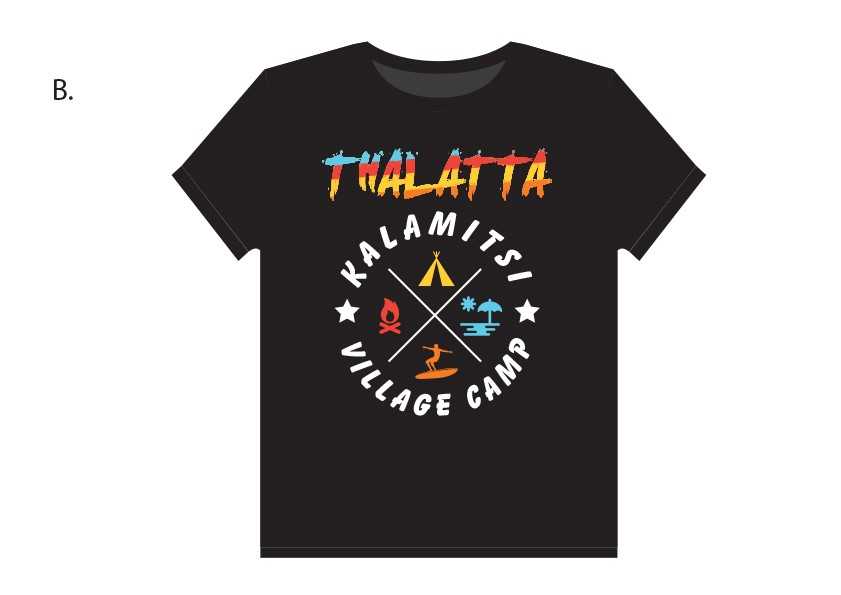 thalatta camp t-shirt #3 (black)